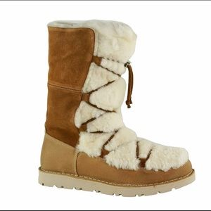 NEW Birkenstock Nuuk Lambskin Nut Winter Boots 7